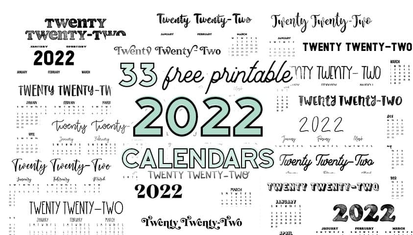 best 2022 free printable calendars