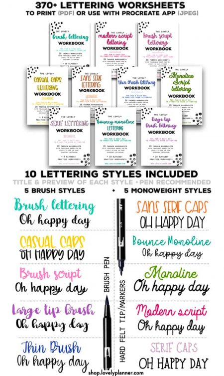 Pin 10 Lettering Workbooks